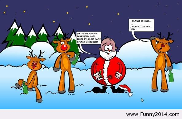 Funny Christmas Cartoon 12 Free Wallpaper