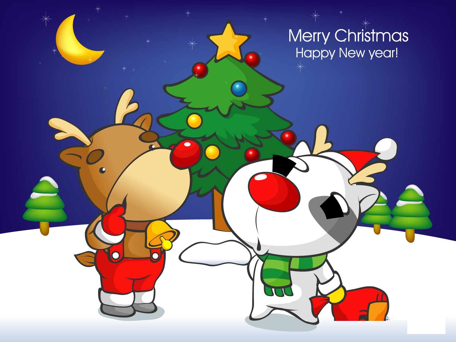 Funny Christmas Cartoon 19 Hd Wallpaper