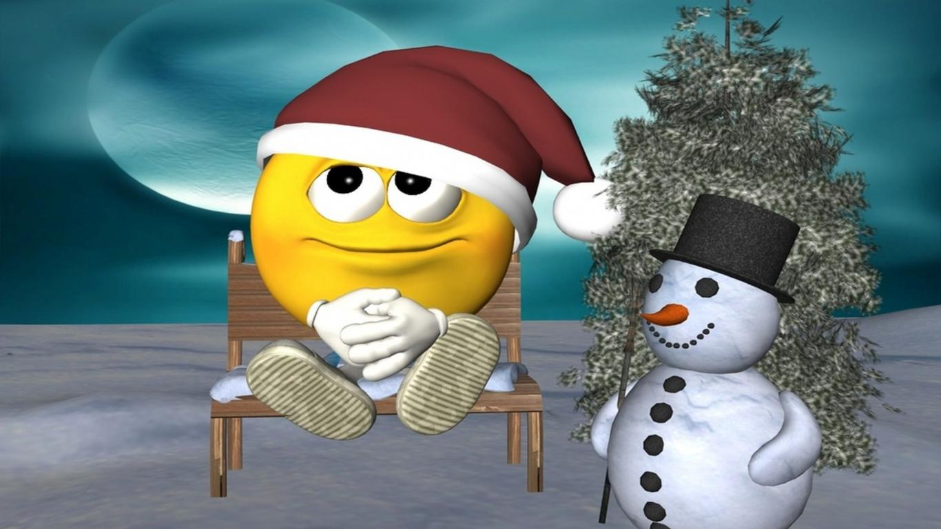 Funny Christmas Cartoon 2 Widescreen Wallpaper