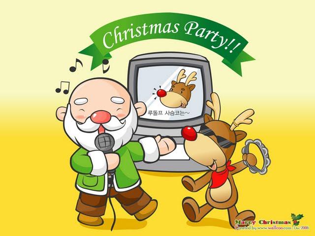 Funny Christmas Cartoon 29 Desktop Wallpaper