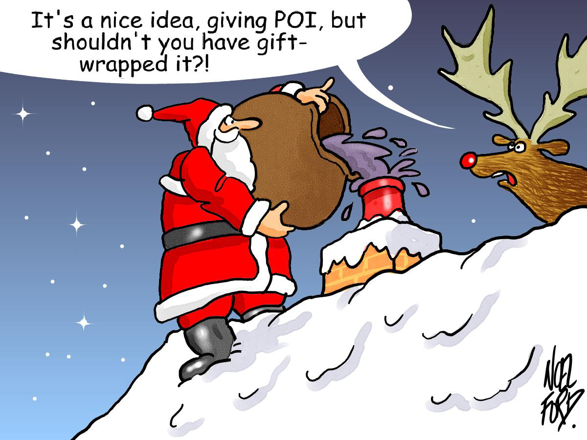 Funny Christmas Cartoon 32 Background