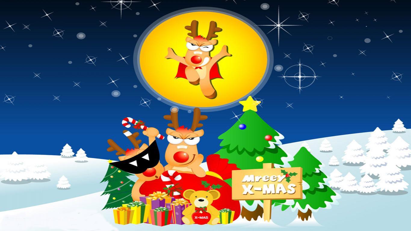 Funny Christmas Cartoon 39 Widescreen Wallpaper