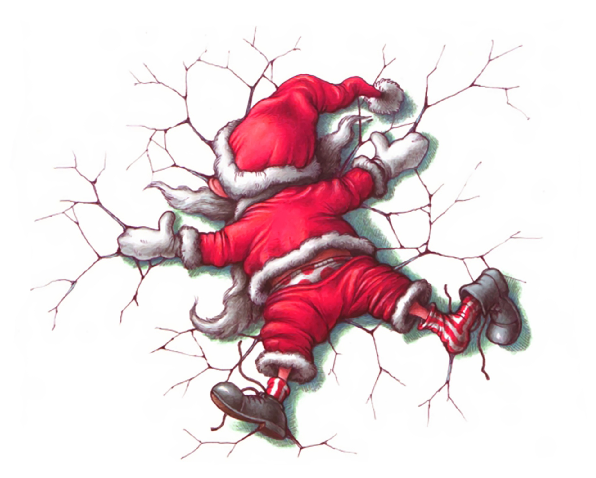 adult christmas cartoon wallpaper - photo #2