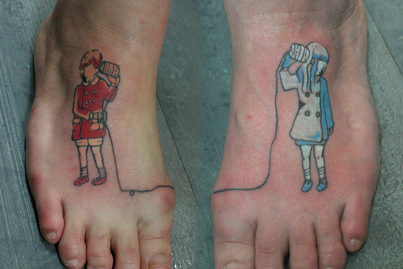 Funny Couple Tattoos 32 High Resolution Wallpaper