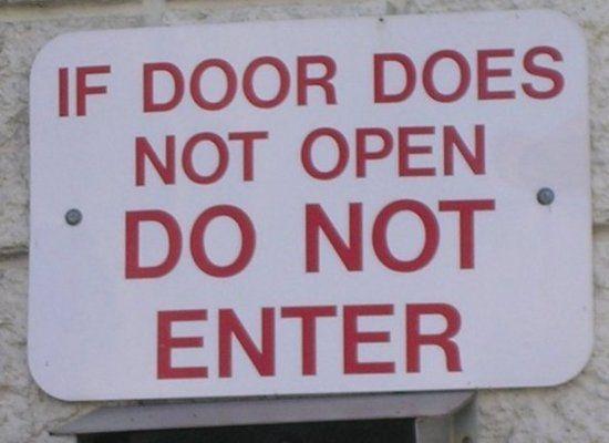 Funny Door Signs 9 Widescreen Wallpaper