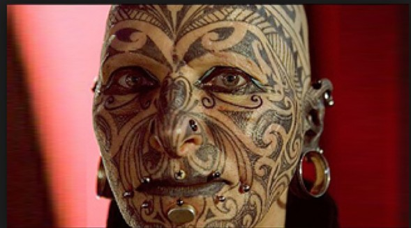 Funny Face Tattoos 17 Desktop Background