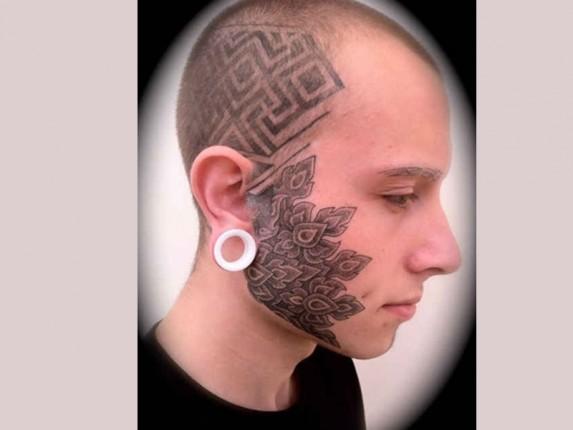 Funny Face Tattoos 31 High Resolution Wallpaper