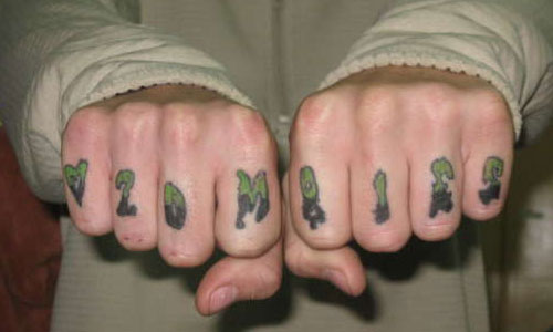 Funny Knuckle Tattoo Phrases 10 High Resolution Wallpaper