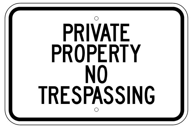 Funny No Trespassing Signs 17 Desktop Wallpaper