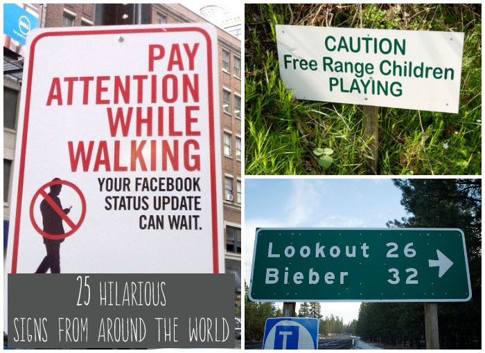 Funny Signs Around The World 2 Wide Wallpaper