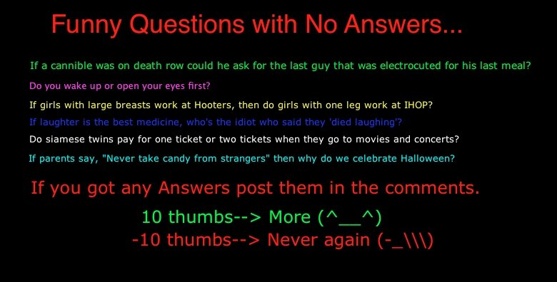 Funny weird questions 30 cool wallpaper funnypicture org