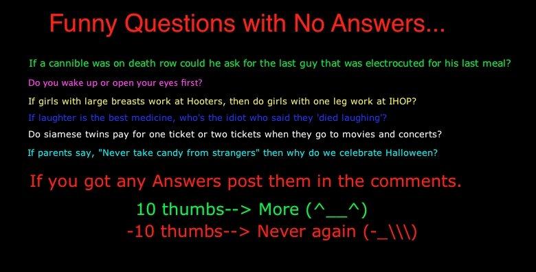 Funny Weird Questions 39 Desktop Wallpaper