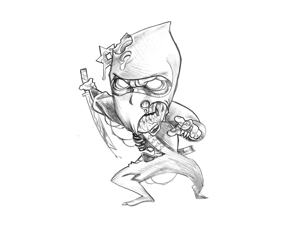 Funny Cartoon Tattoo Drawings 2 Hd Wallpaper